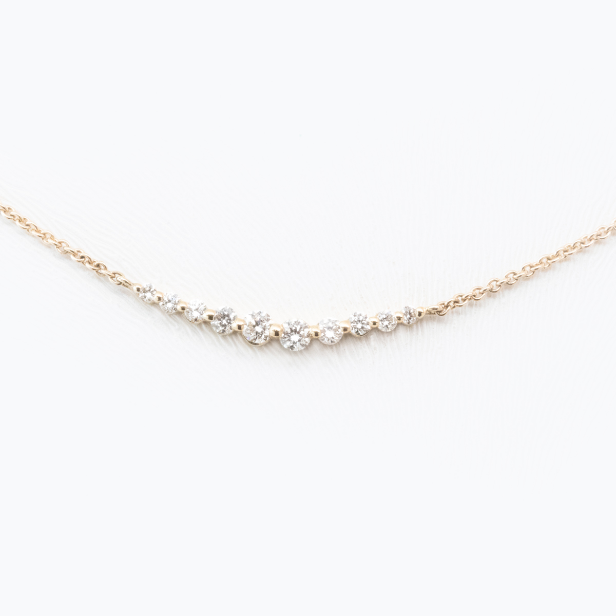 Petite Diamond Curve Necklace