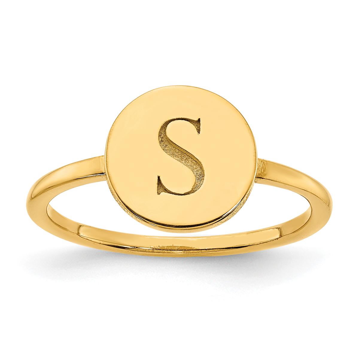 Circle Monogram Signet Ring
