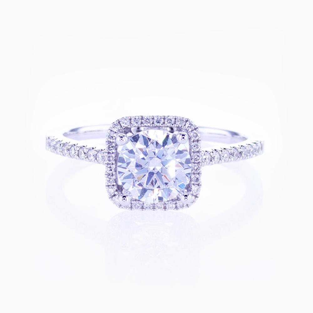 Dino Lonzano Classic Halo Engagement Ring