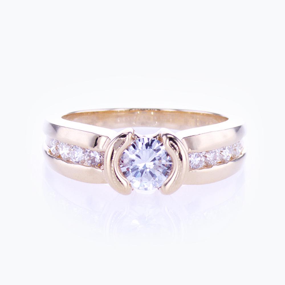 Dino Lonzano Semi-bezel set Engagement Ring