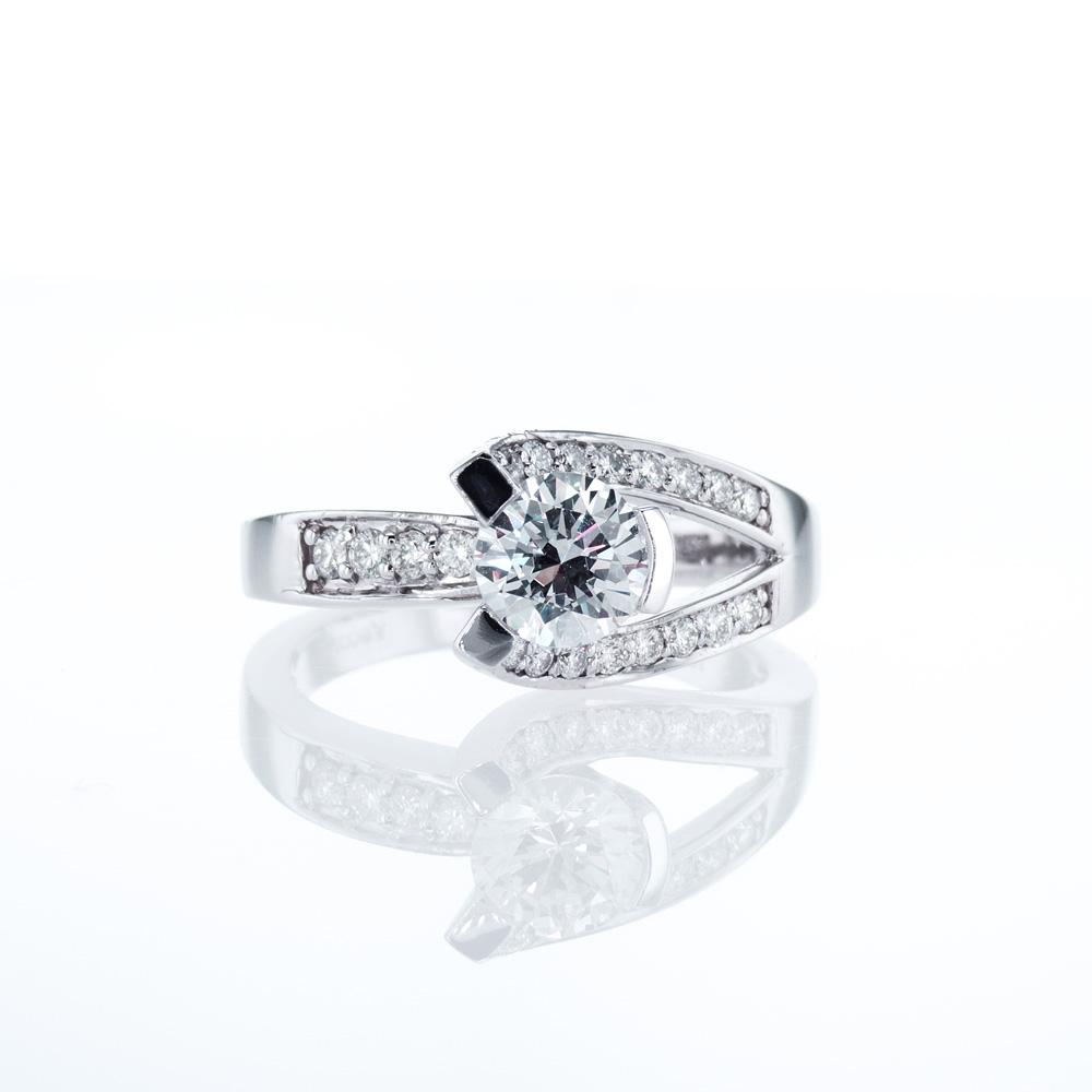 Dino Lonzano Split-shank Engagement Ring