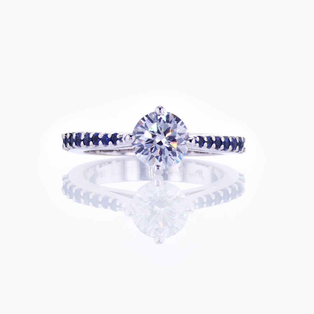 Sapphire-accented Engagement Ring Setting