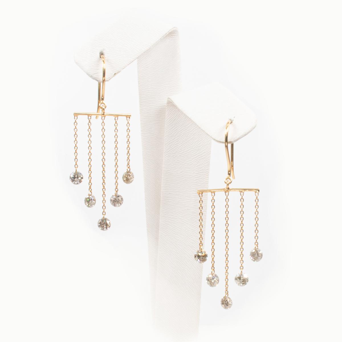 Diamond Waterfall Chandelier Earrings