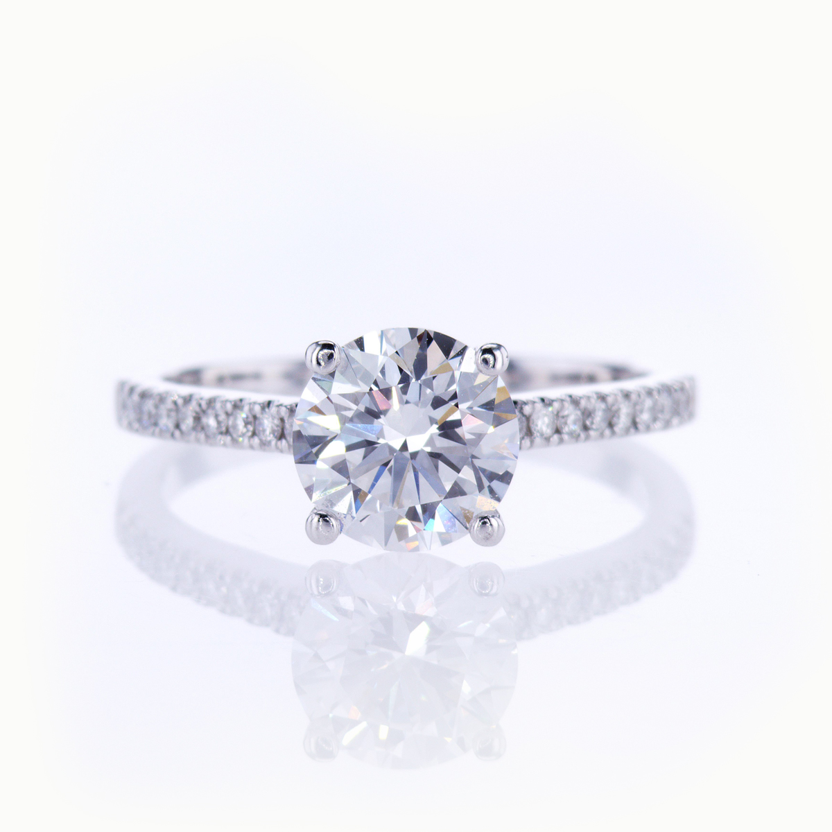 Dino Lonzano Accented Engagement Ring