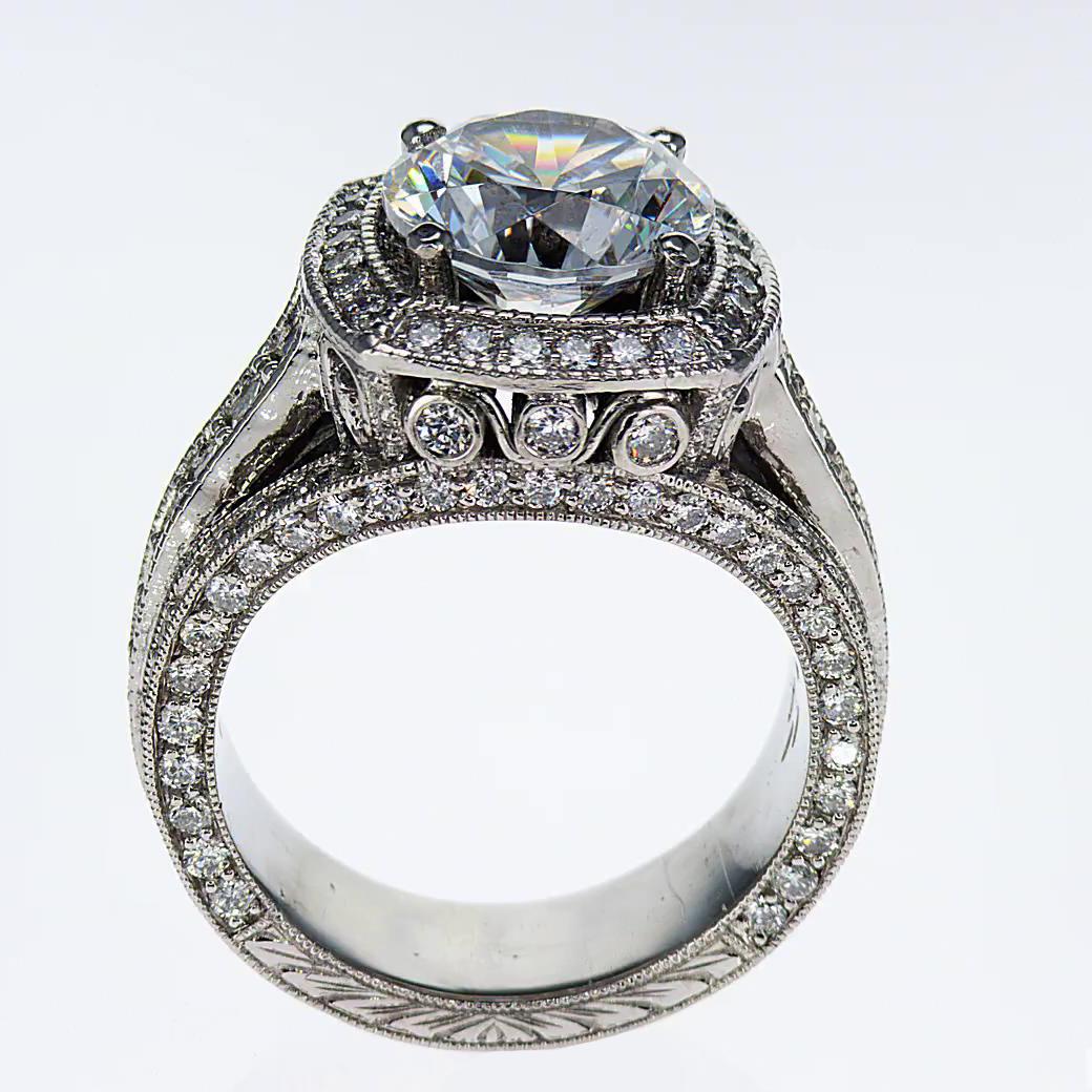 Dino Lonzano Vintage Design Engagement Ring  (semi mount)