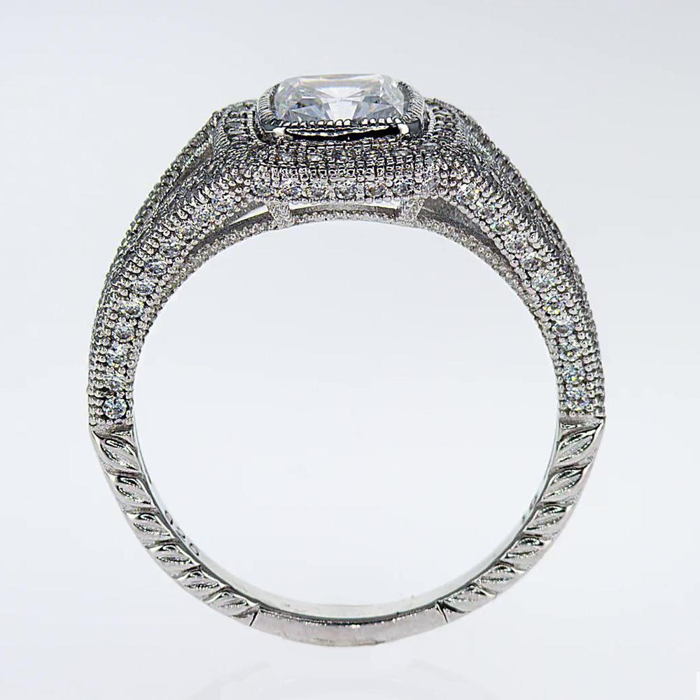 Art Deco Cushion Diamond Engagement Ring (semi mount)