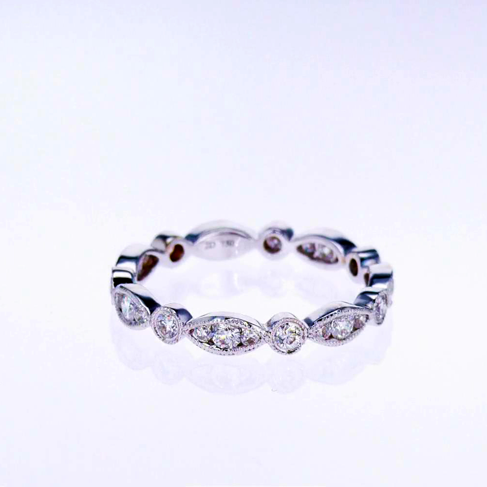 Marquise Trio Eternity Band, 18k White Gold