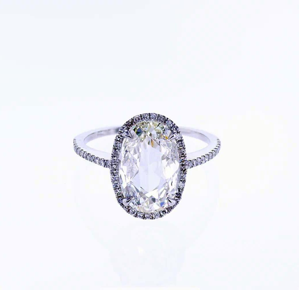 Vintage Style Platinum Diamond Engagement Ring