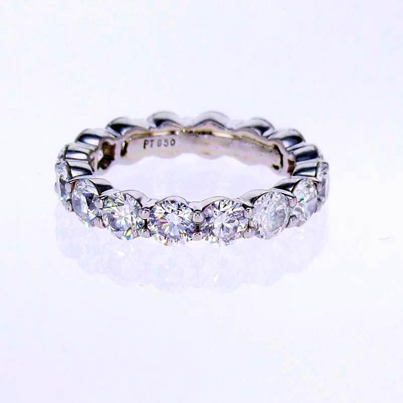 Classic Platinum Diamond Eternity Band