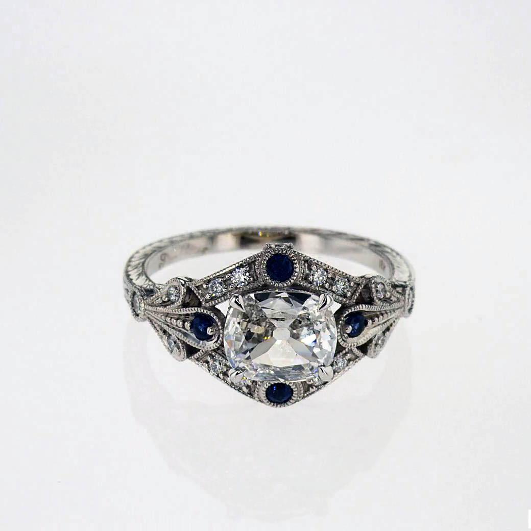 Sculptural-Inspired Diamond Engagement Ring