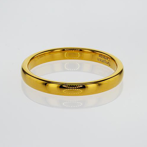 Gold Plated Tungsten Men's Wedding Band