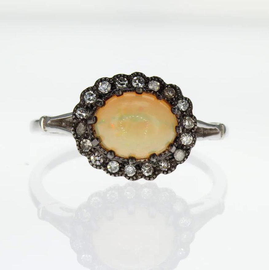 Edwardian Inspired Gemstone Ring, Vermeil