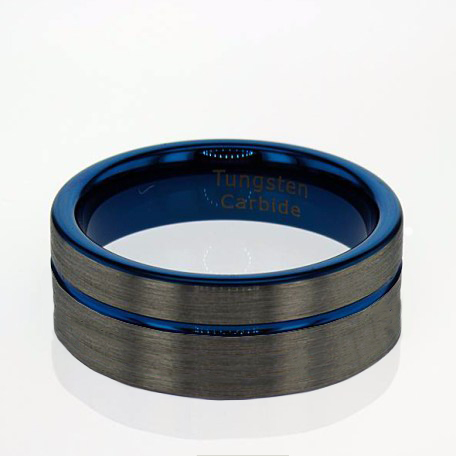 Brushed Finished Tungsten Men's Wedding Band - 8mm