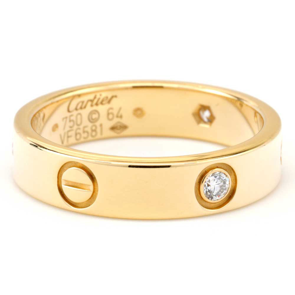 18K Yellow Gold Diamond Cartier Love Band