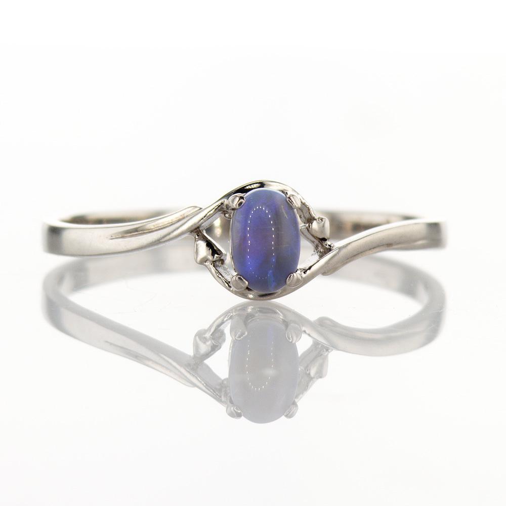 Milky Opal Ring, Silver