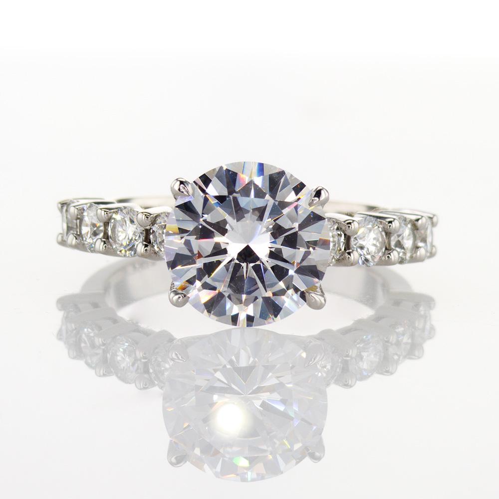 Dino Lonzano Diamond Engagement Ring, 18k White Gold