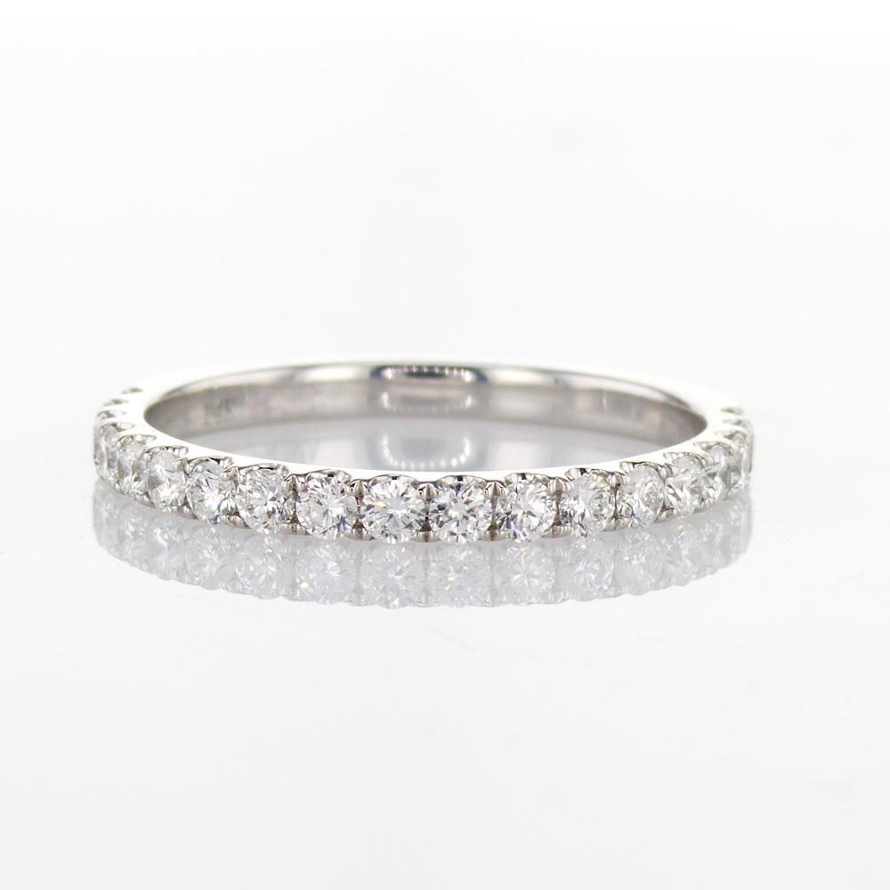 14k White Gold Diamond Wedding Band, 0.52-carat