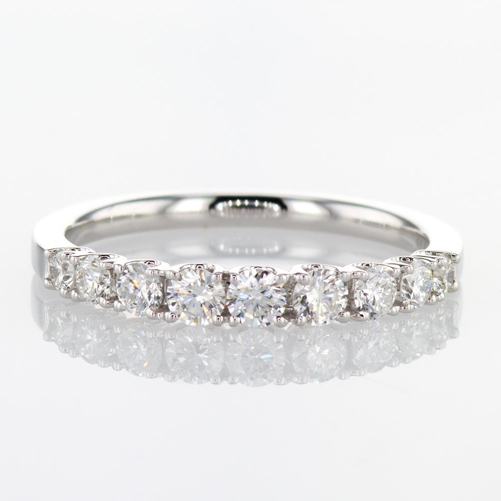 Omni Brilliant Diamond Wedding Band, 14k White Gold