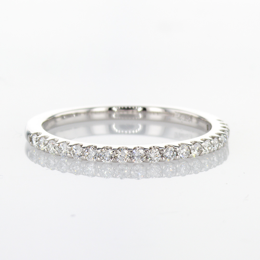 Petite Diamond Wedding Band, 14k White Gold