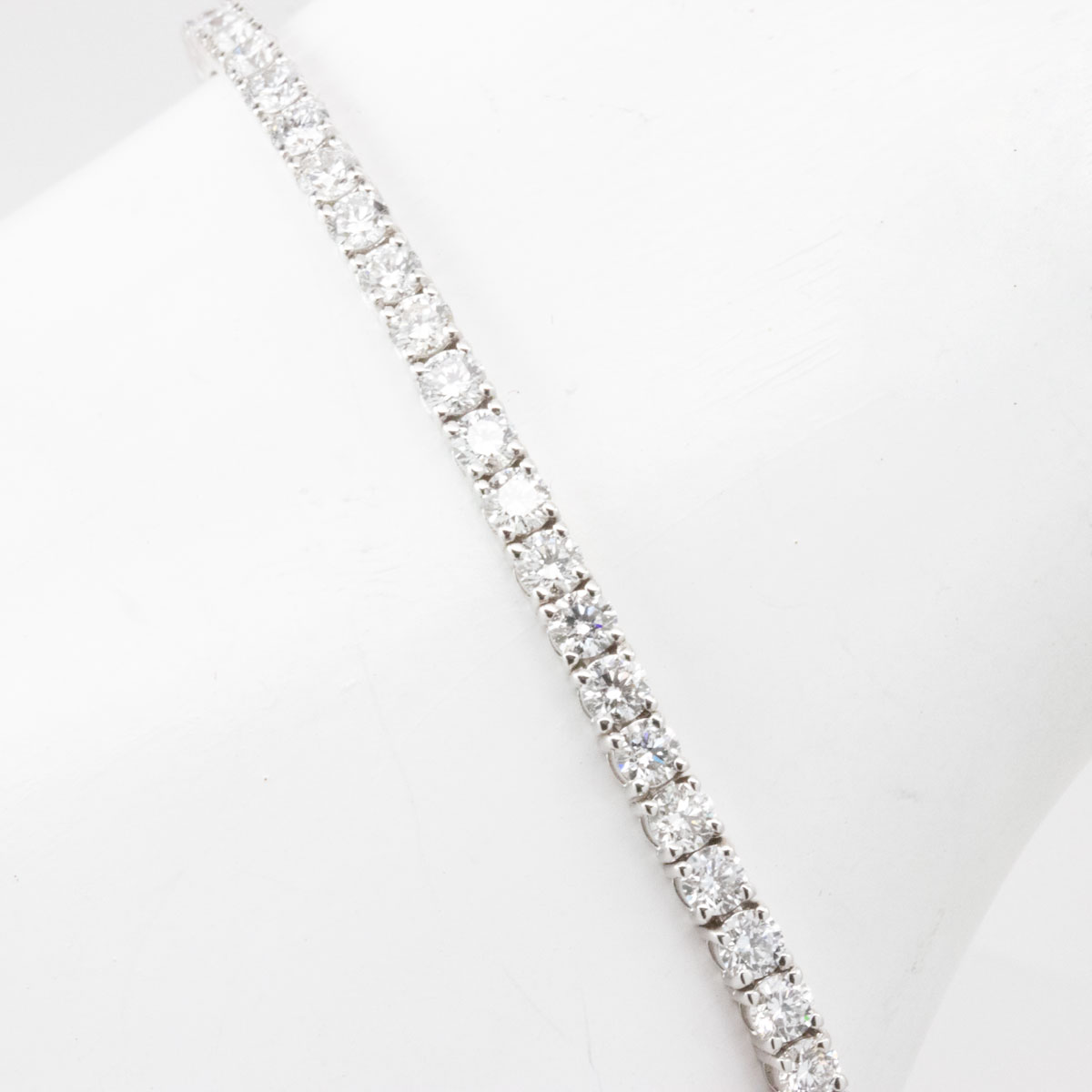 3 Carat Lab-Grown Diamond Tennis Bracelet, 14k White Gold