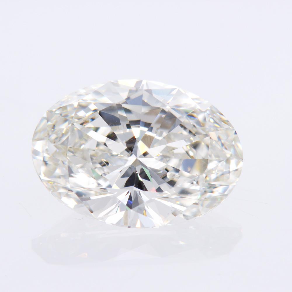 5.07 Carat Oval Brilliant Diamond, Lab-Grown
