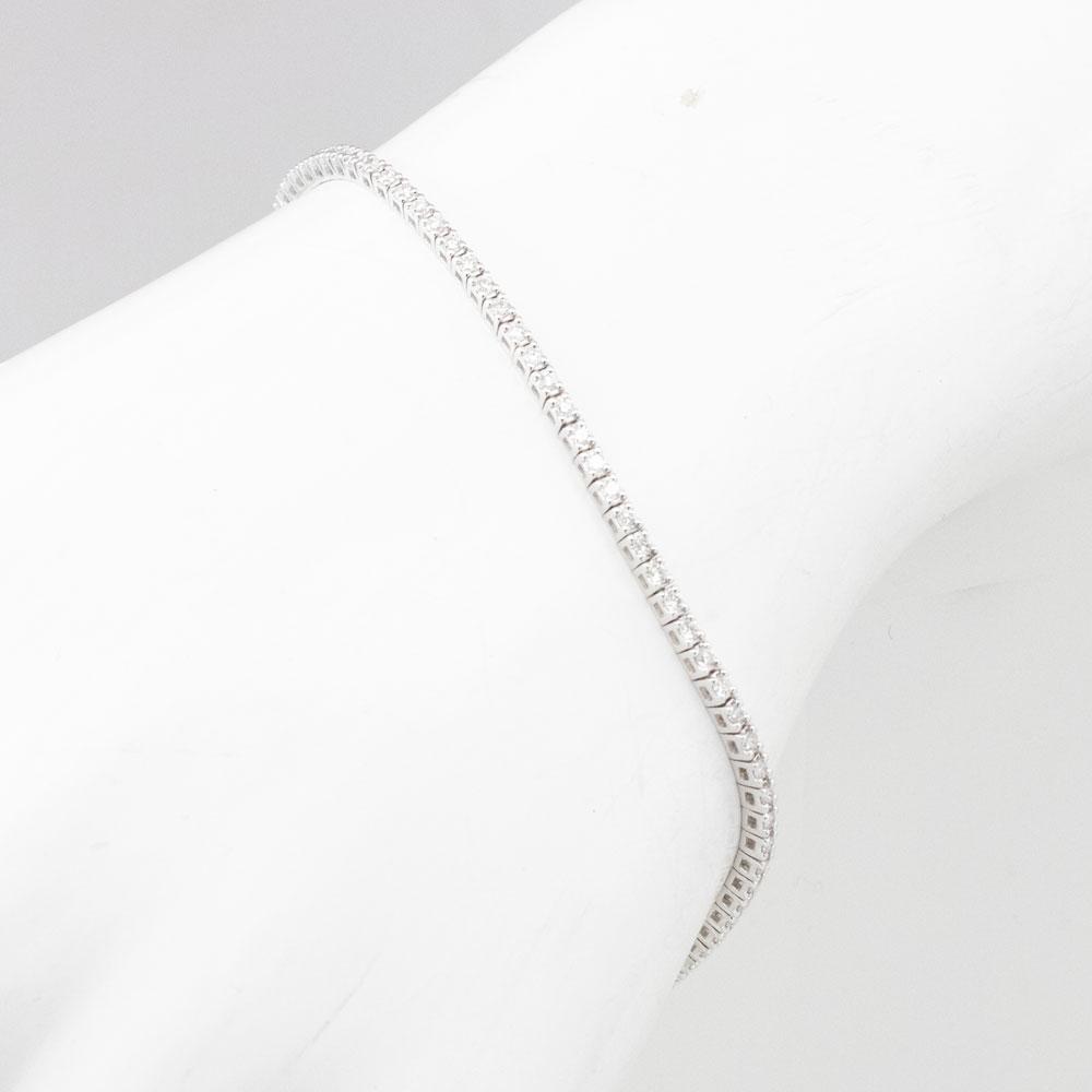 1 Carat Mined Diamond Tennis Bracelet, 14k White Gold
