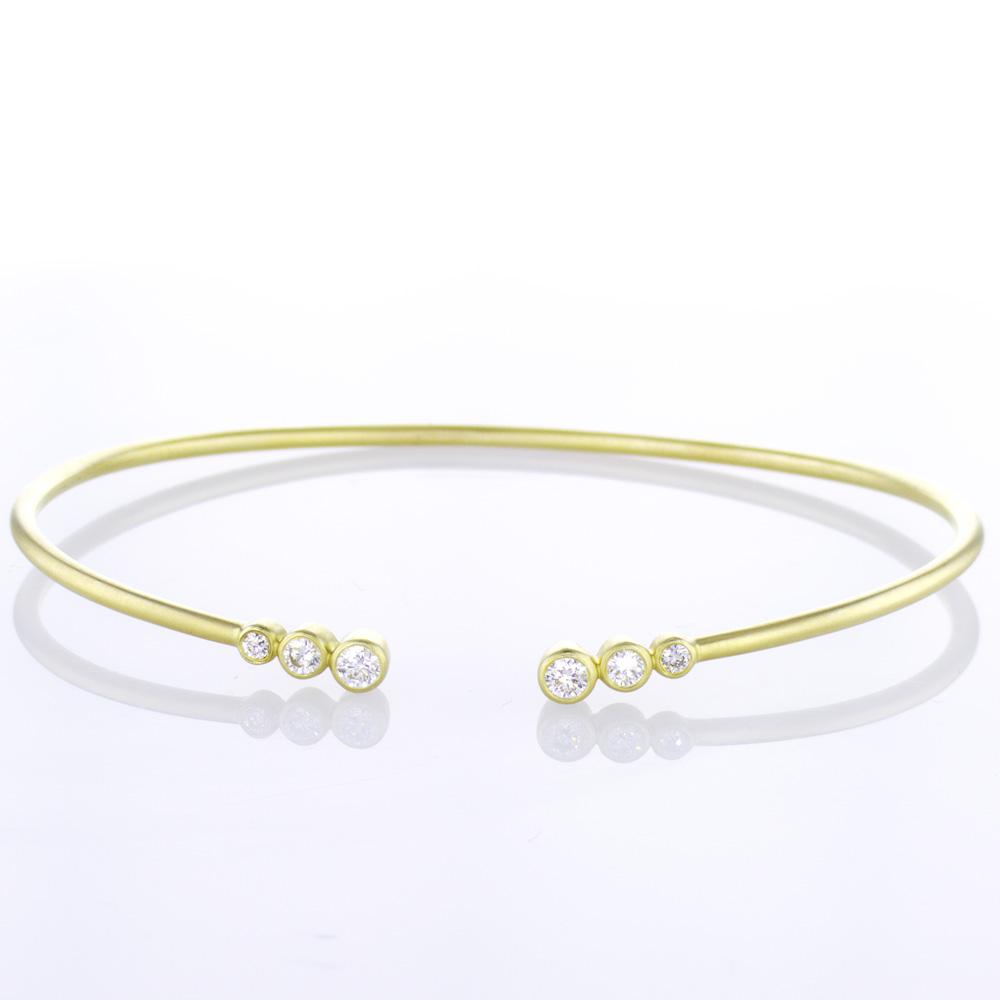 Trio Diamond Bezel Bracelet