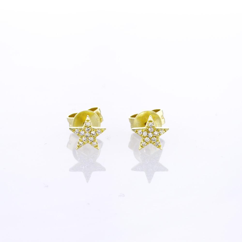 Pave Star Diamond Stud Earrings