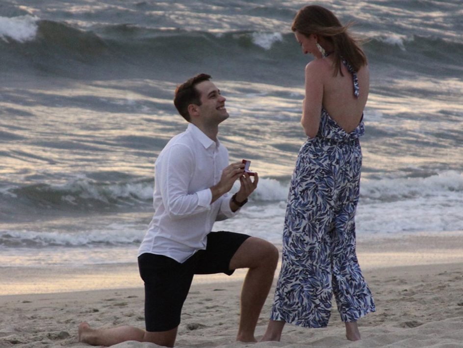 An MSD couple engagement photo