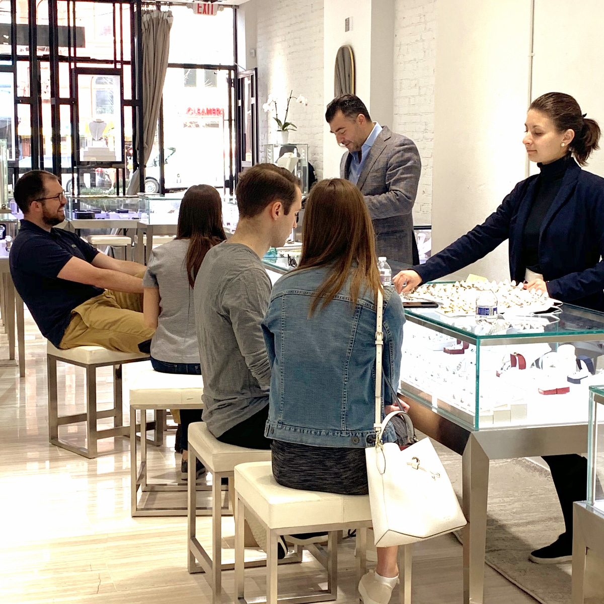 Market Street Diamonds associates working with customers