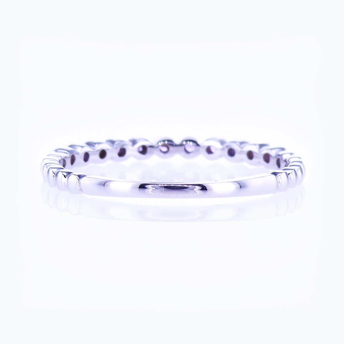 Floating Amethyst Band Ring