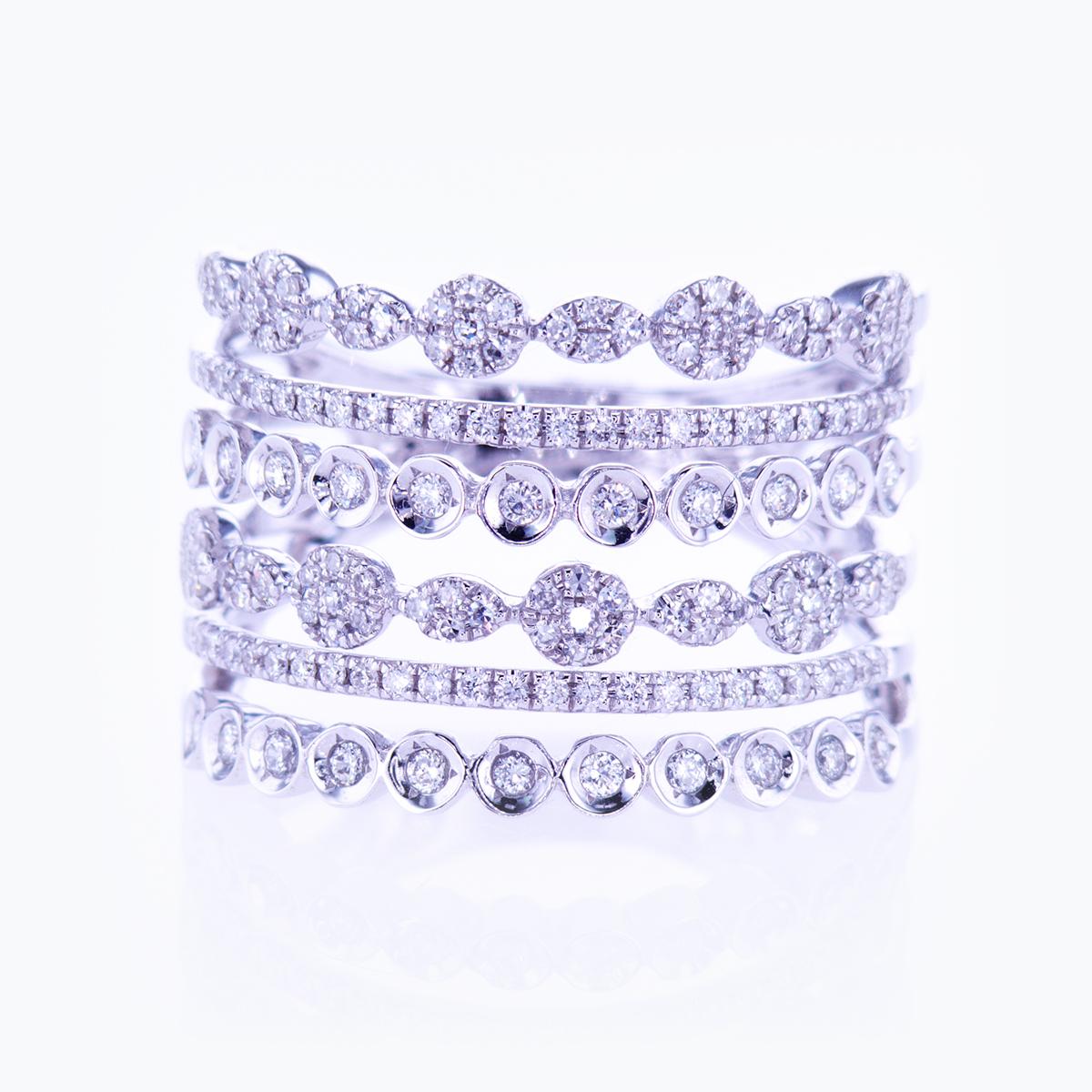 Multi-band Dimond Fashion Ring