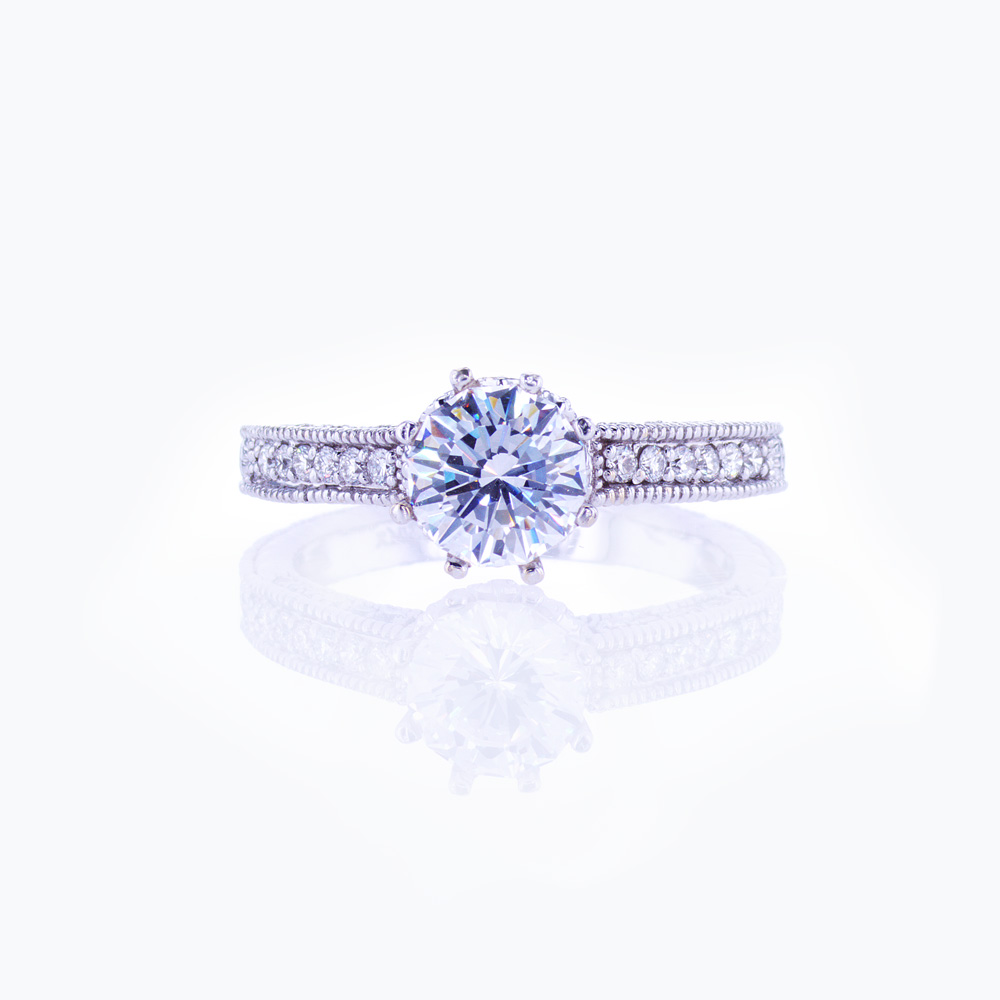 Eight-prong Engagement Ring Setting