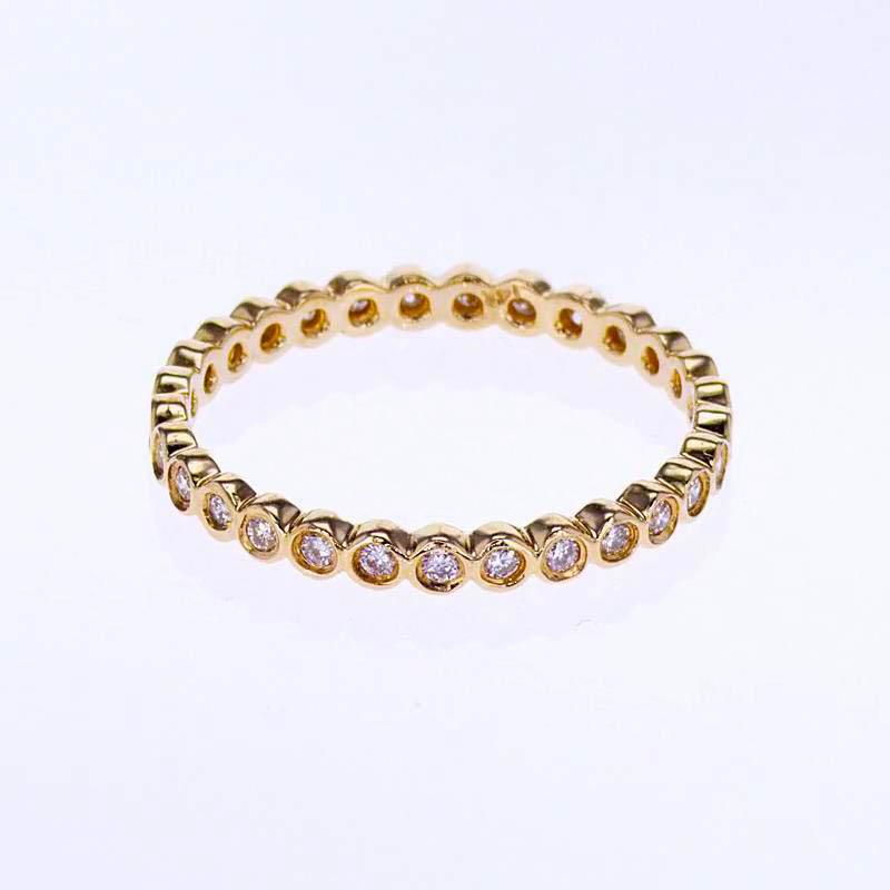14k Rose Gold Diamond Eternity Band