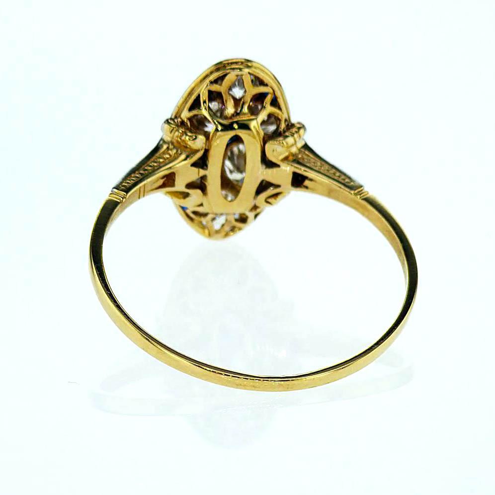 1930s Vintage Fashion Diamond Ring, 18k Gold