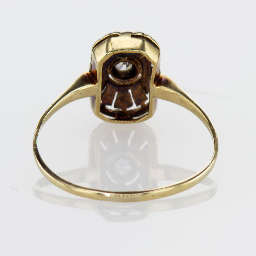 Two Tone Vintage Art Deco Diamond Ring