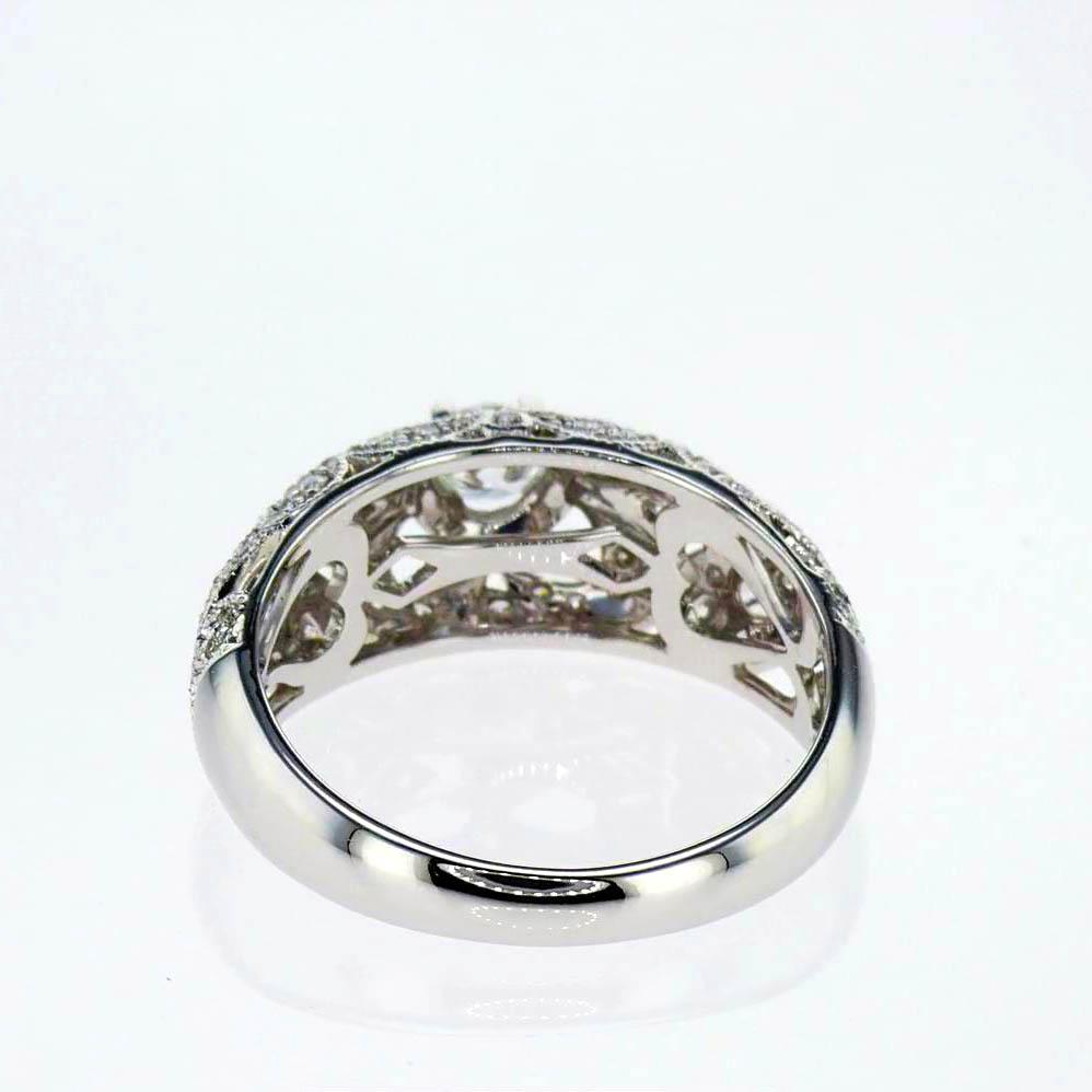 Vintage Inspired Edwardian Engagement Ring , 14k White Gold