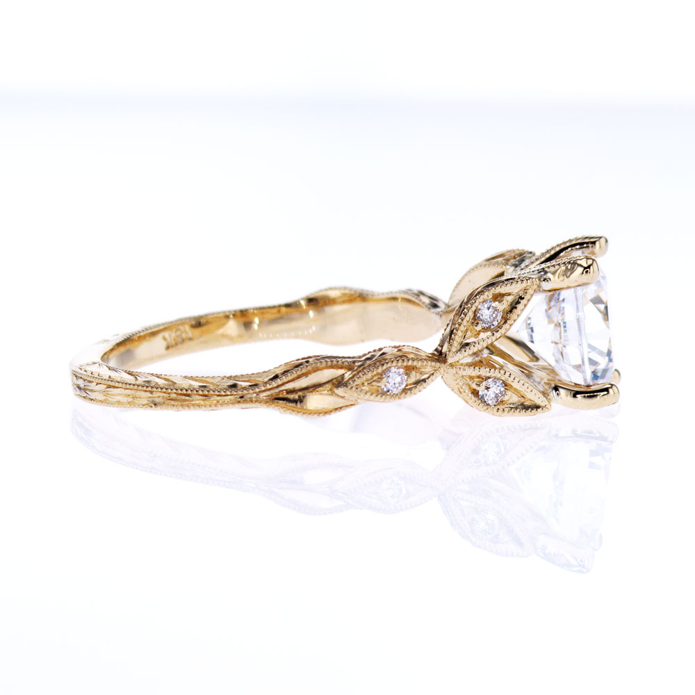 Ankora Cathedral Engagement Ring, 18k Yellow Gold(semi mount)