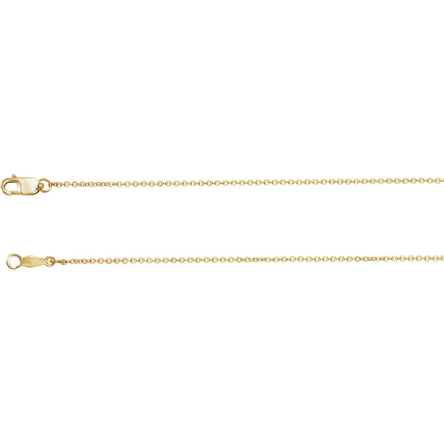 Gold Heart Pendant with Chain, 14K Yellow Gold