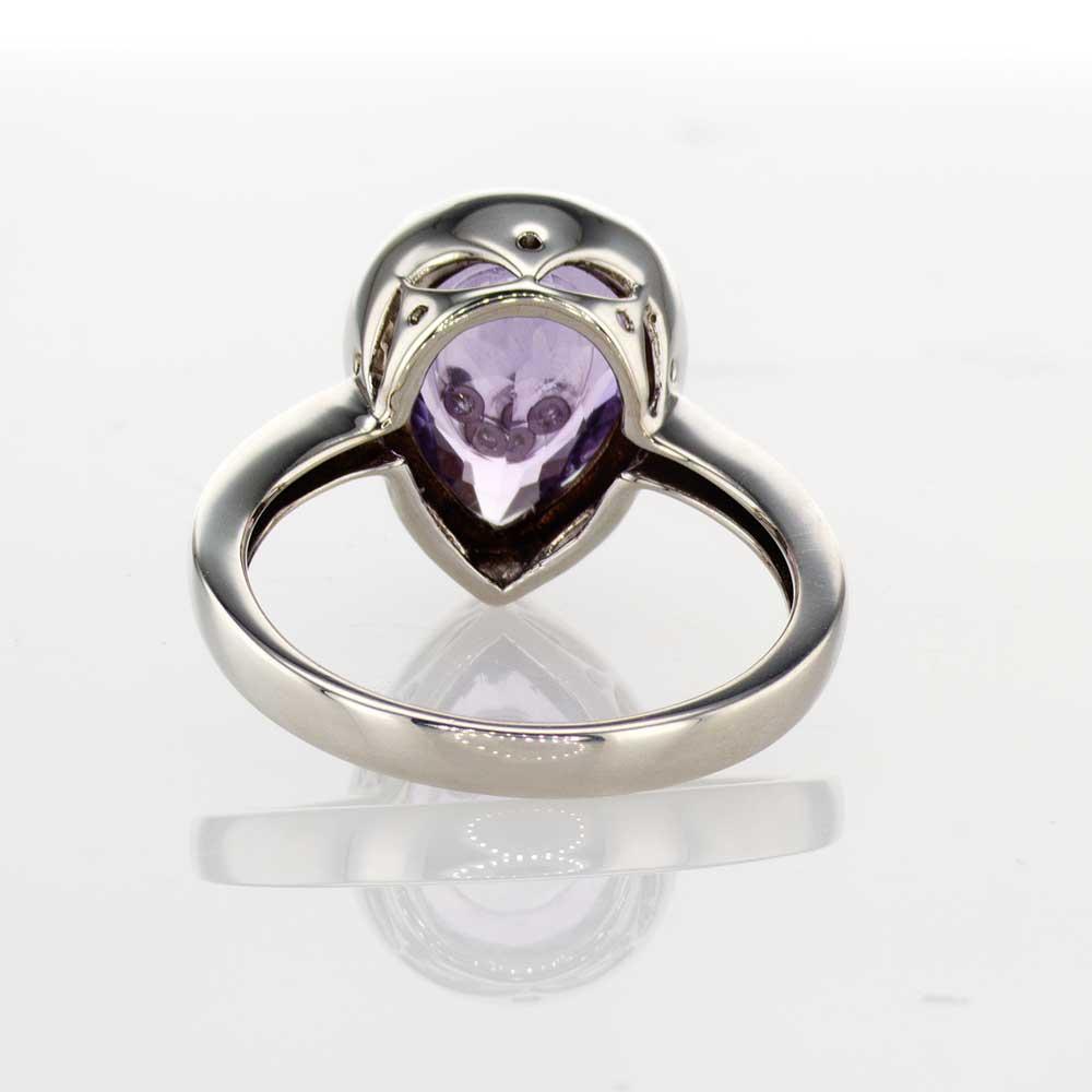Dancing Diamonds Purple Amethyst Ring