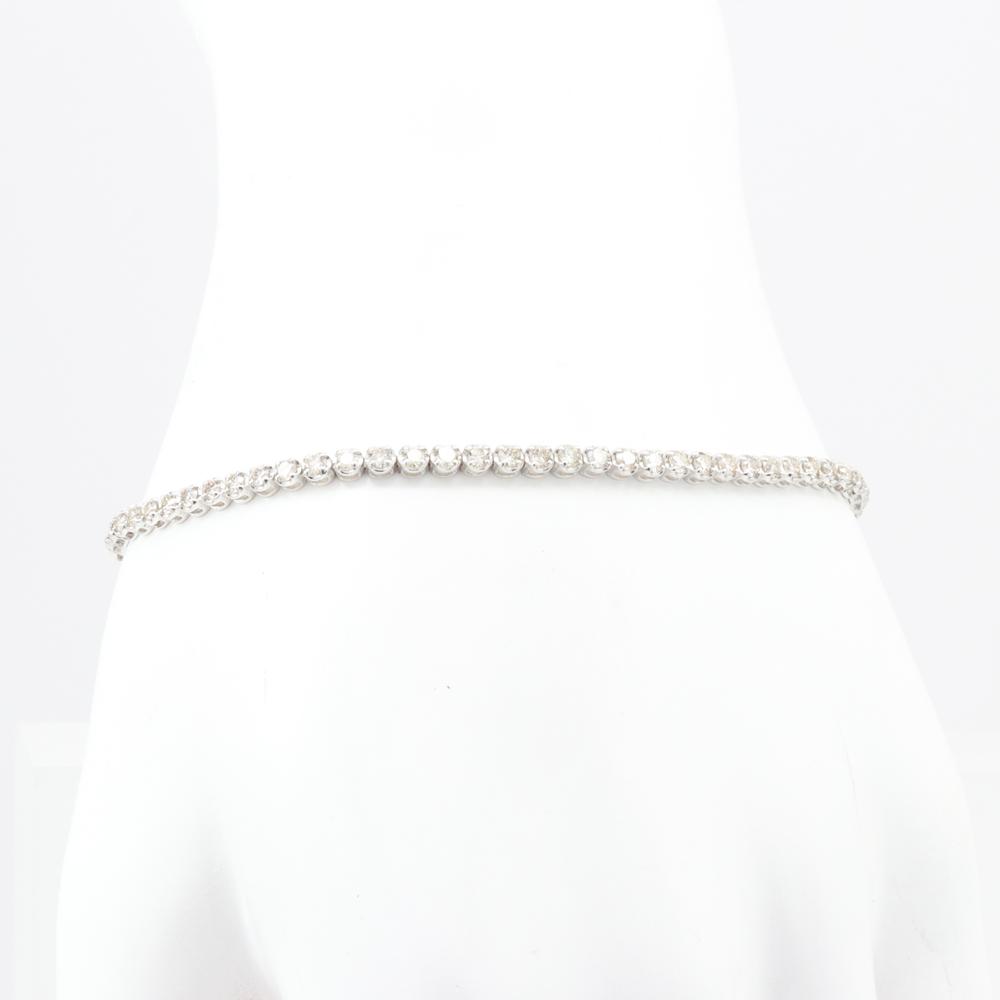 2 Carat Lab-Grown Diamond Tennis Bracelet, 18k White Gold