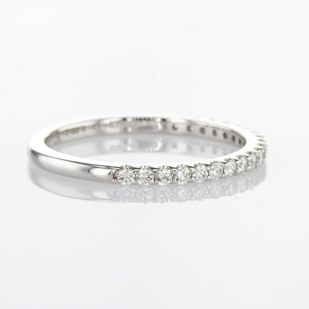 Petite Diamond Wedding Band, 14k White Gold