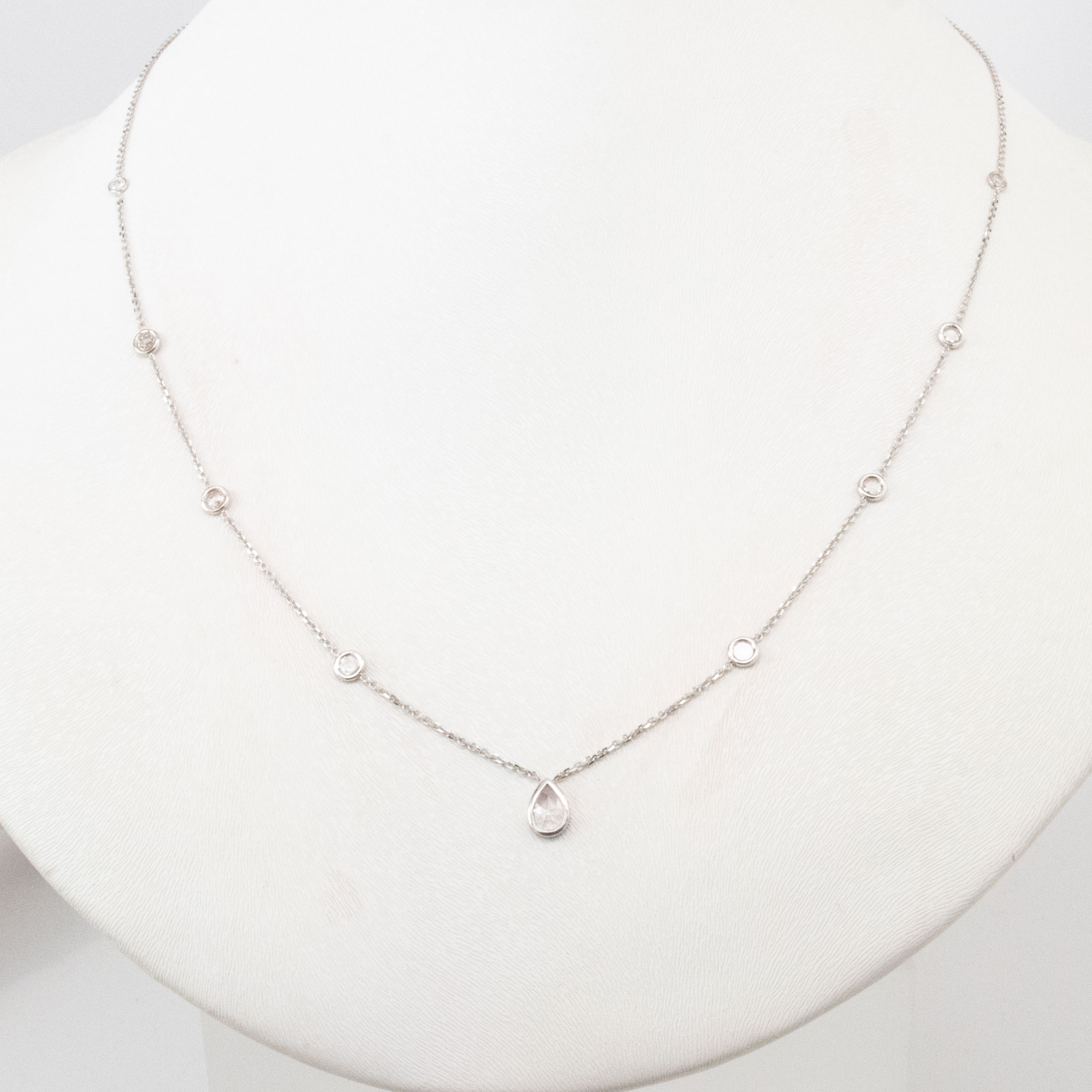 Diamonds by the Yard Necklace, 14k White Gold