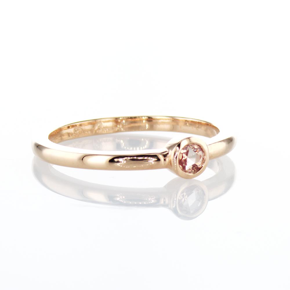 Dino Lonzano Rose Cut Diamond Ring, 18k Yellow Gold