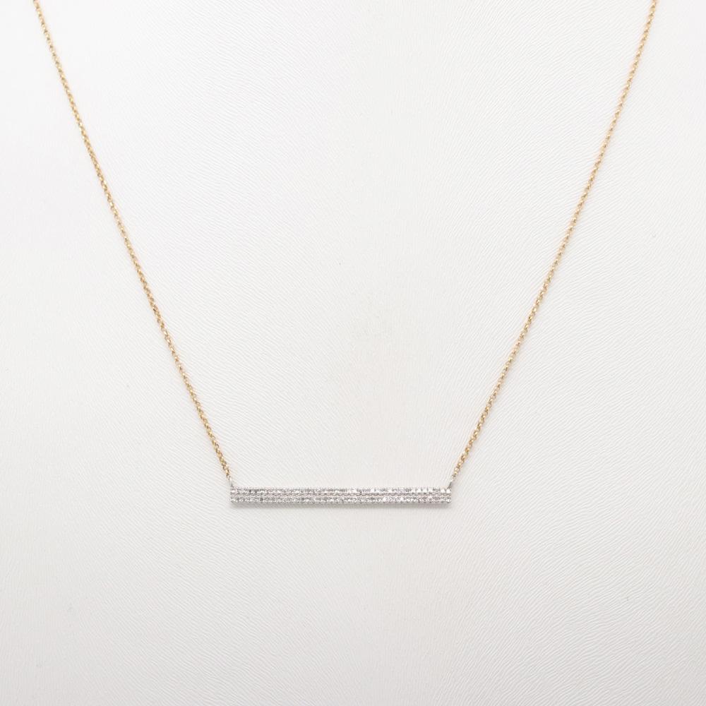 Double Diamond Bar Necklace