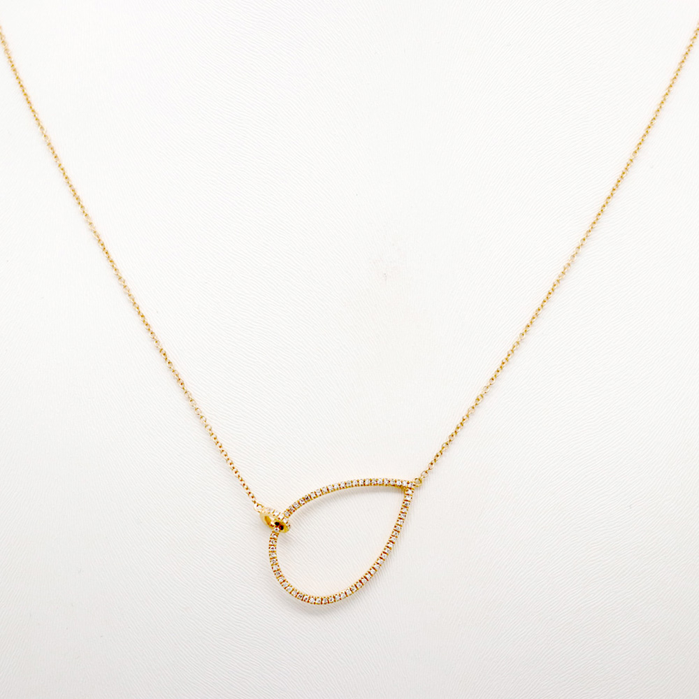 Diamond Cutout Teardrop Necklace