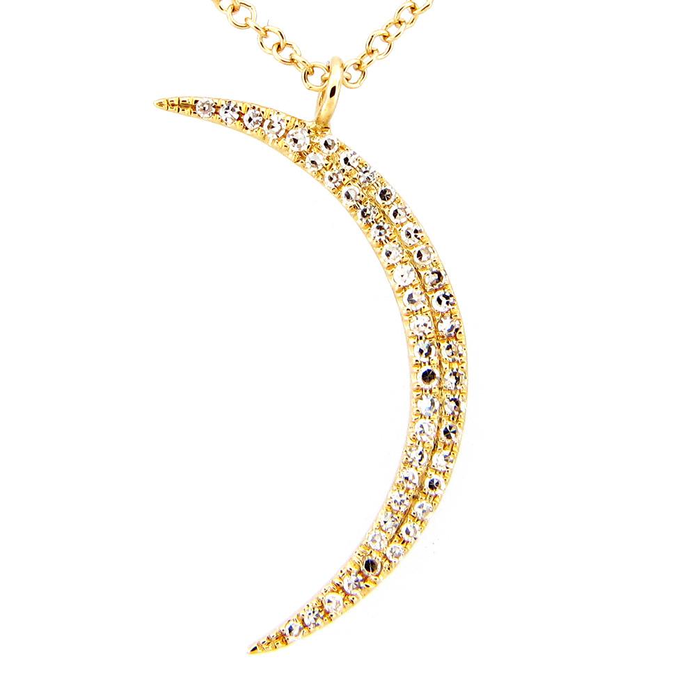 Diamond Moon Necklace