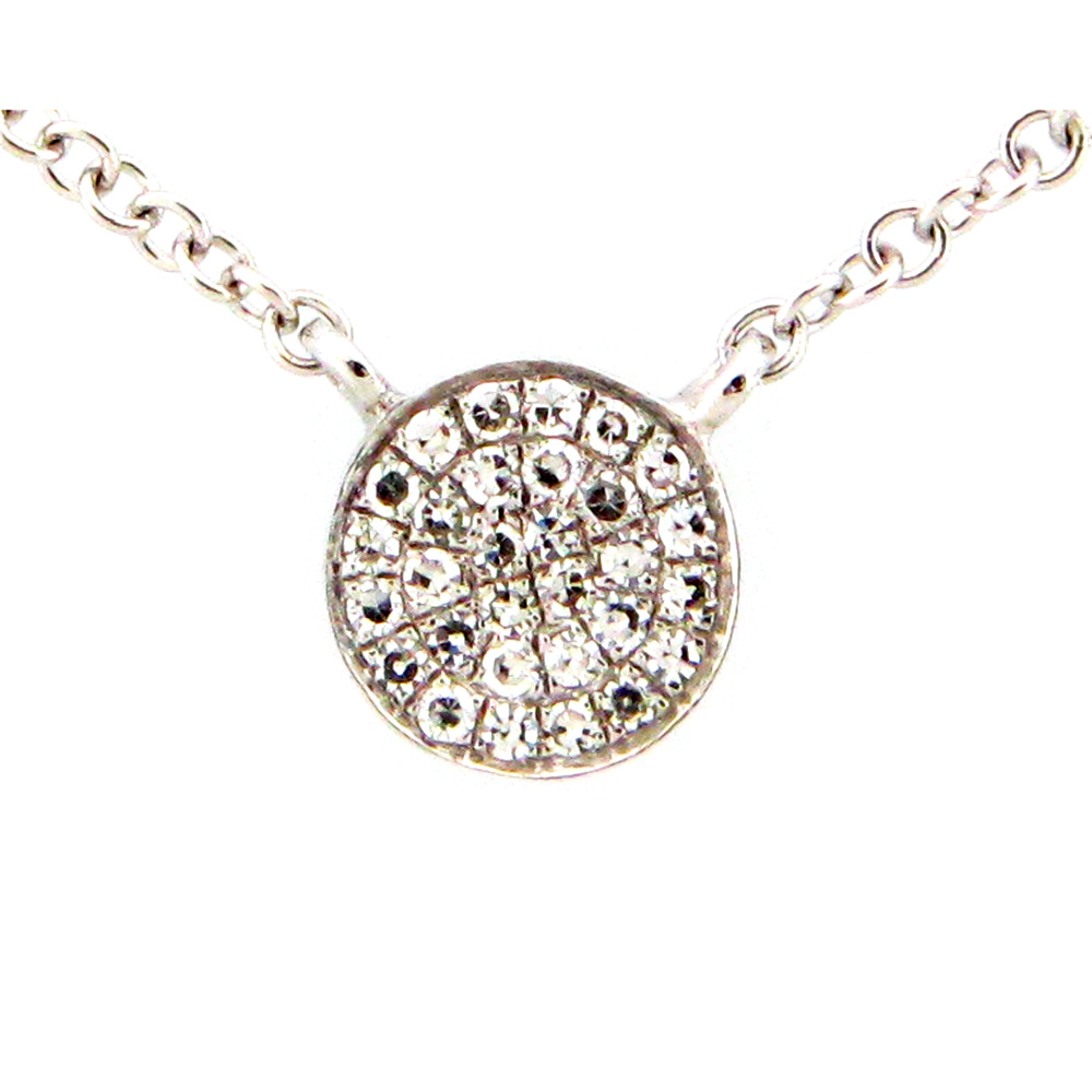 Mini Diamond Disc Necklace