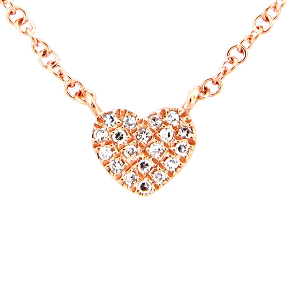 Mini Pave Heart Necklace