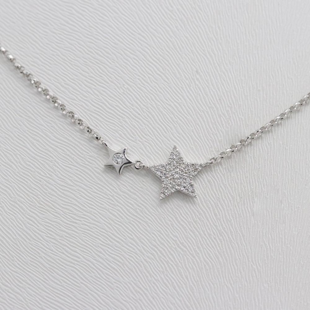 Double Star Diamond Necklace